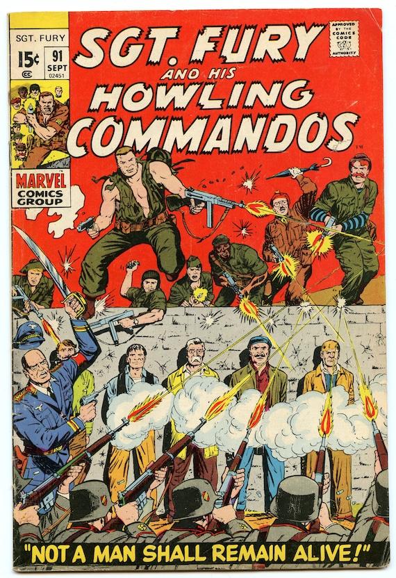 Sgt. Fury 91 Sep 1971 VG+ (4.5)