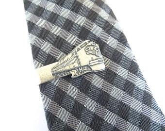 Train Tie Clip- Train Tie Bar- Groomsmen Gift