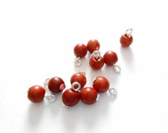 Brown Turquoise Dangle Beads