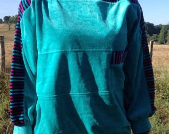 80s velvet sweater