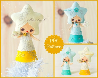 PDF Pattern. Christmas Star doll.