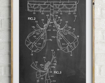 Rock Climbing Harness Patent Poster, Outdoorsy, Rock Climber, Mountain Home Decor, Rock Climbing Art, PP0297