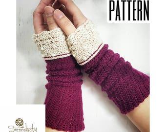 Crochet Pattern | Lacey Wrist Warmers Pattern | Crochet Pattern Lace Wrist Warmers | DIY Crochet Written Intructions | Wrist Warmer Pattern