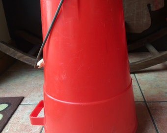Vintage Red Fethaware Water Cannier, 1950s / 1960s, VW Camper, Camping