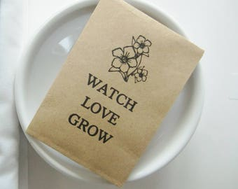 Bridal Shower-Hen Party-Seed Packet Favors-Bridal Shower Favors-Hen Do Favours-Watch Love Grow-Bridal Shower Ideas-Hen Party Ideas-Weddings