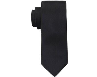 Ultimate Black Ties.Solid Black Ties. Black Silk Ties. Skinny Ties.