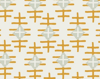 Path Marker Gold, Bound Collection, April Rhodes, Art Gallery Fabrics, Gold Fabric, Fabric by the yard,