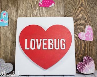 "Lasercut Conversation Heart ""Lovebug"""
