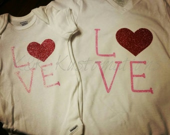 Matching Sisters L.O.V.E Valentine's Day Shirts!