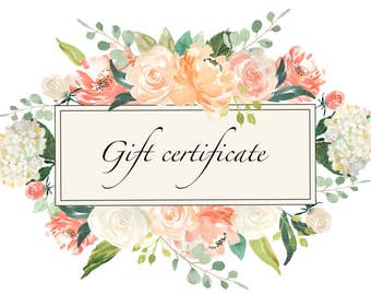 Singing Slowly Gift Certificate.