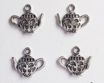 10 teapot charms tea pot - SCT116