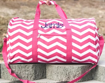 Many Colors - Personalized DUFFLE Bag, Chevron Overnight bag, Girls  Overnight bag, Sports