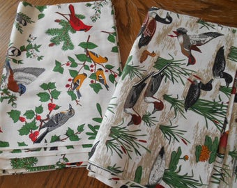 New Cotton Fabric Ducks and Birds