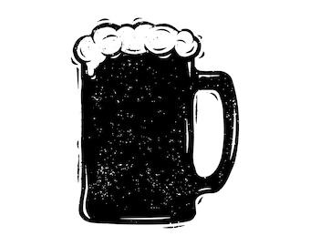 Beer mug SVG, Beer SVG, Beer mug silhouette, Mug silhouette, Alcohol svg, Mug vector, Glass svg, Silhouette, SVG,Graphics,Illustration,Logo