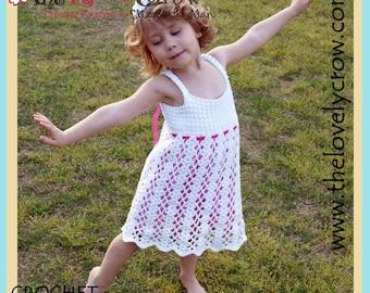 Dress Crochet Pattern Kids BELLA LENA DRESS