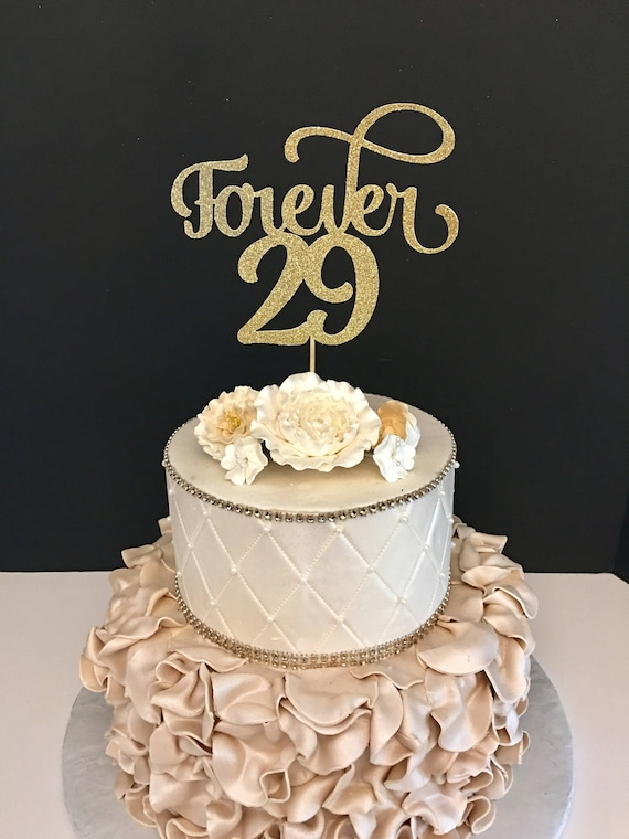 Remarkable Forever 29 Cake Topper 30Th Birthday Cake Topper Personalised Birthday Cards Cominlily Jamesorg
