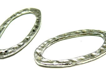 Primer 10 pendants connector hammered rings 2B 2916 will
