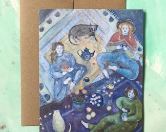 Quilt Picnic   Greeting Card