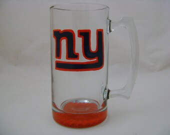 New York Giants, Hand Painted, Beer Mug, Personalized