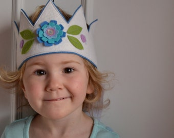 Child's Felt Flower Crown and wand set