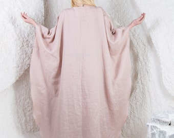 Linen dress, linen fabric, linen clothing, linen dresses for women, linen kimono, long linen dress, linen robe, linen clothes, linen/ LD0014