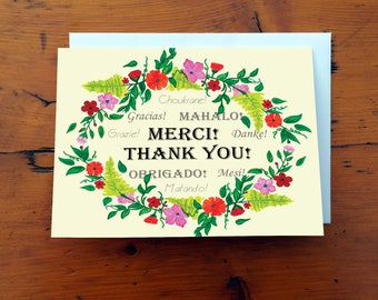 Thank you card - Carte de remerciement