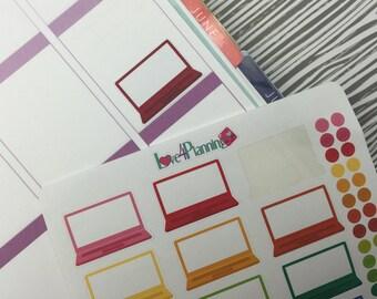 Large Laptop Planner Stickers for Erin Condren, Happy Planner & more