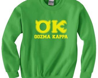 Oozma Kappa OK Sweatshirt Monsters University Halloween costume cosplay Shirts Mens S-3XL