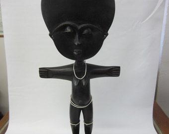 Vintage Hand Carved Ebony African Female Fertility Idol