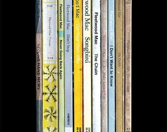 Fleetwood Mac 'Rumours' Album As Penguin Books Poster Print, Fleetwood Mac Rumours Literary Print, Music Art, Fleetwood Mac, Classic Rock