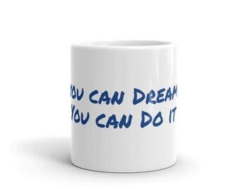 Blue & White Mug, you can do it
