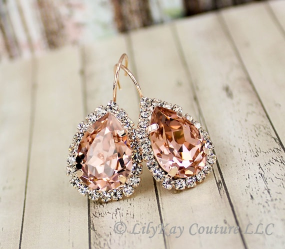 Morganite Earring Light Pink Blush Earrings Soft Pink