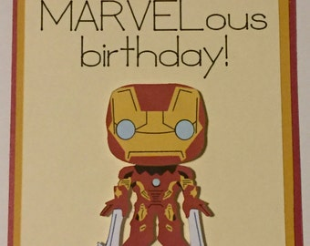 Disney Marvel Iron Man homemade birthday card