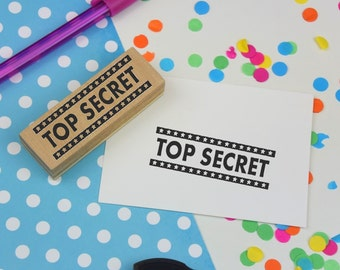 Top Secret Rubber Stamp - bullet journal - diary - packaging stamp - classified - secret - confidential - happy mail