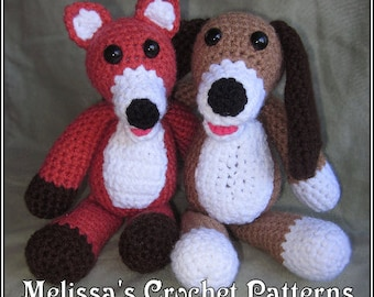 Crochet Pattern - The Fox and the Hound Copper and Tod