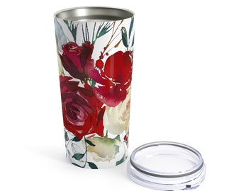 Tumbler 20Oz, Floral Tumbler: Boho Scandi Design