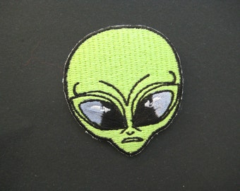 Iron-on Embroidered Patch Alien 2 inch