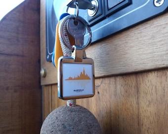 Marseille metal keychain