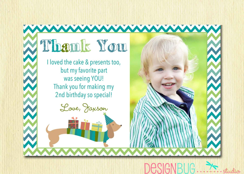 Matching Dog Birthday Thank You Card DIY Printable Thank You