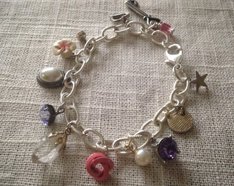 "Charm Bracelet; Assemblage Jewelry; Vintage Jewelry; ""All The Single Ladies"""
