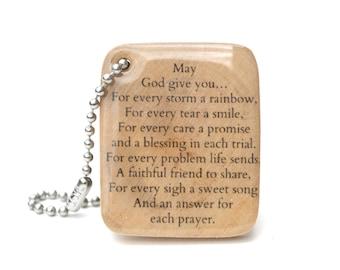 Irish Blessing Graduation Keychain - Personalized Keychain - Custom Quote Keychain