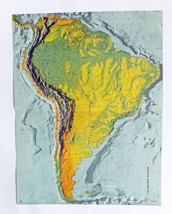 South America map Very Large Map of South America Brazil