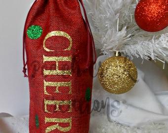 Gift Bag, Wine Gift Bag, Hostess Gift, Office Gift, Housewarming Gift, Holiday Gift