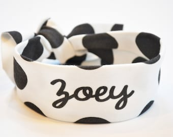 Knotted Headband - Personalized Baby Headband - Custom Newborn Bow - Name Headband - Personalized Turban - Baby Girl Gift Personalized