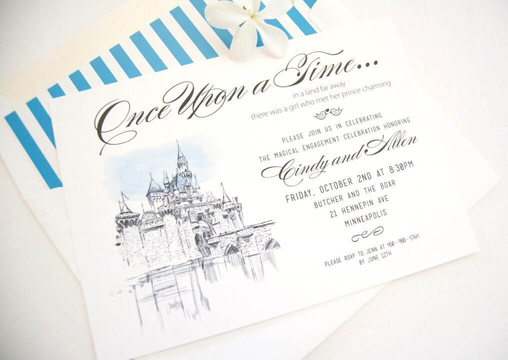 Fairytale Wedding Disney Inspired Engagement Party