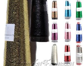 Metall-Thread Lame Kegel Glitter funkeln Garn Handarbeit Faden Nadelspitze Schmuck occhi Garn, die irischen Thread alle Farben DSH häkeln