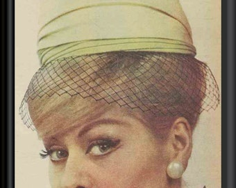 Pill Box Hat Sewing Instructions 1961 PDF Pattern