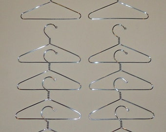 Doll Clothes Hanger Set of 10 - 5 inch - Wire