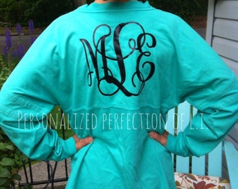 Monogrammed Prep Jersey - NO Minimum Requirement - Preppy & Personalized - We have glitter lettering too!