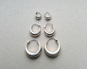 basic silver earrings